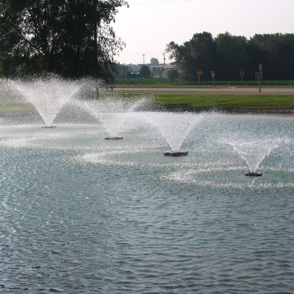 Vfx aerating fountains aerating pond fountain kasco marine for Pond fountains