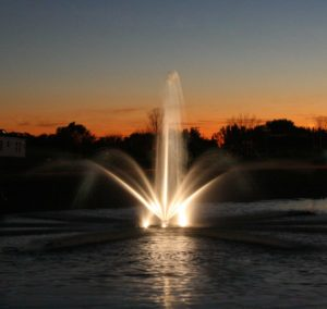 Kasco LED Lights for Fountain Nighttime Use