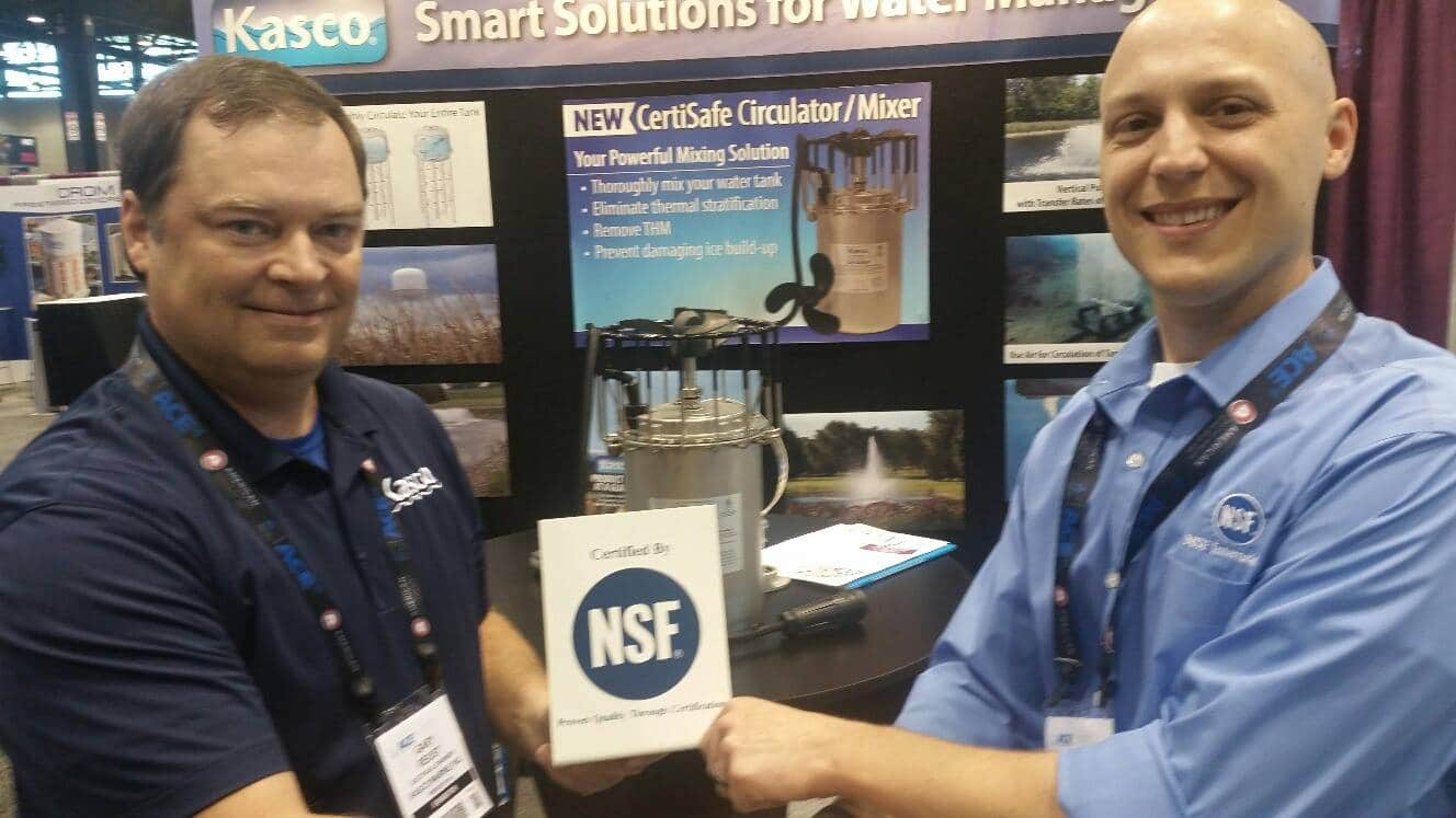 Kasco Receives NSF Certification at the 2016 AWWA Show