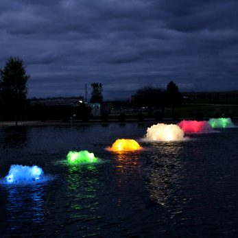 Kasco Surface Aerators with RGB Light Kits