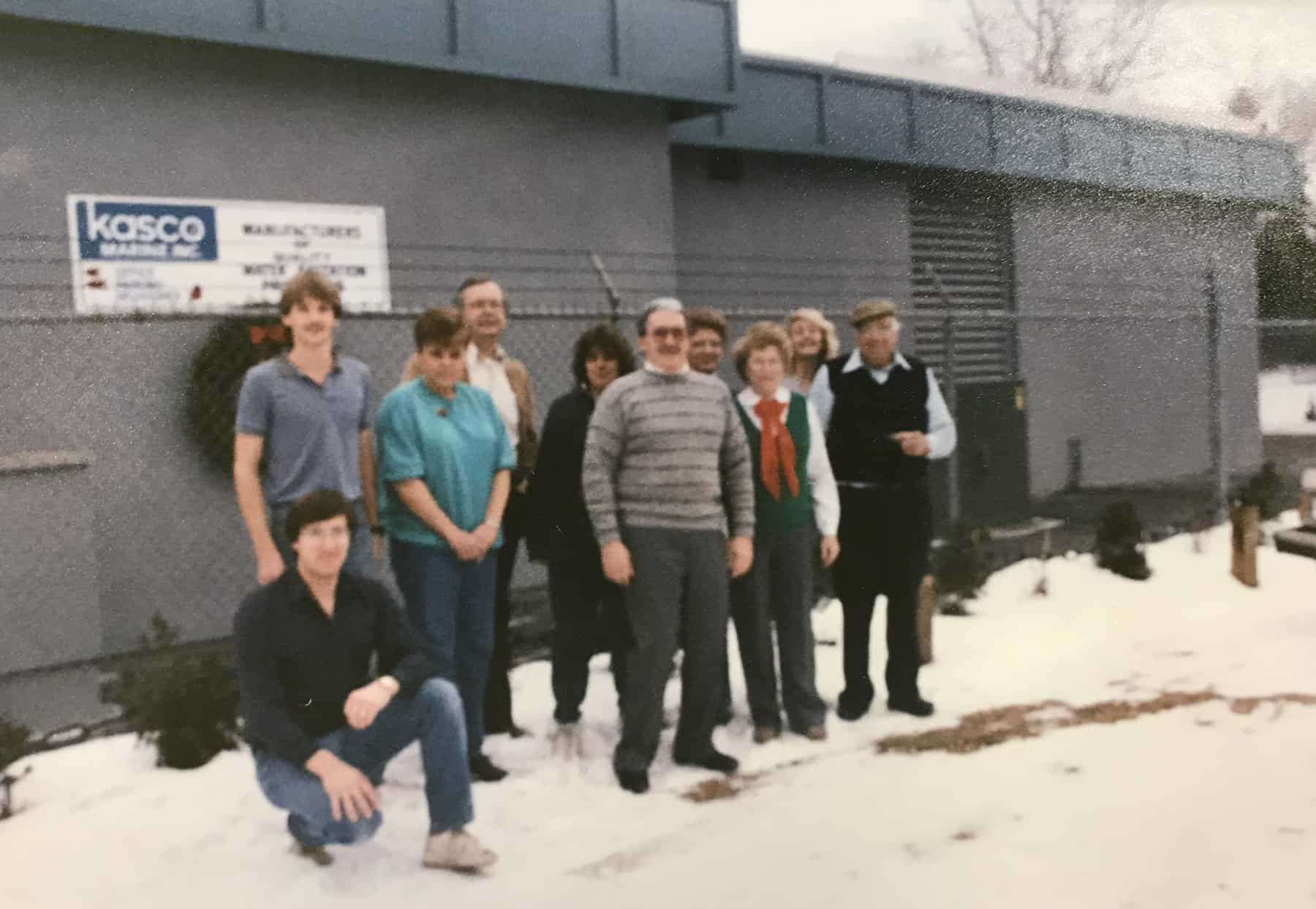The Kasco team in 1988