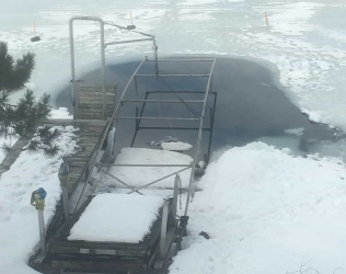 Kasco De-Icer Helps With Boat Lift Retrieval